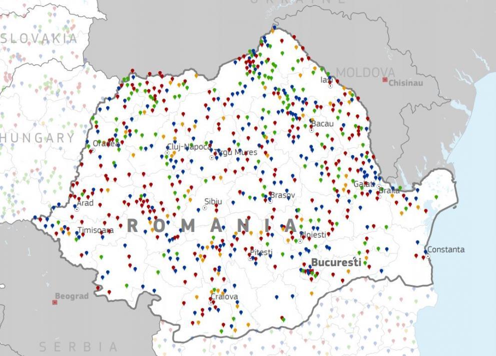 Harta RO wifi4eu